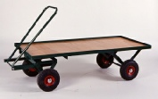 Flatbed turntable trolley