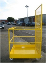 Wheeled safety cage