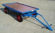 2000kg bearing trolley with parking brake
